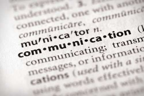 dictionary image of communication